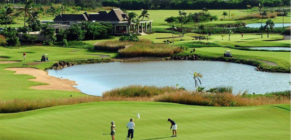 Vivre dans une villa sur un golf à l'île Maurice